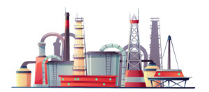 Vector fuel industry refinery plant, oil station